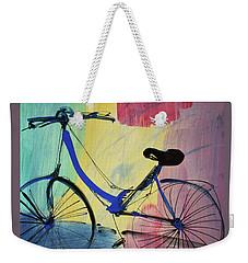 Blue Bicycle Weekender Tote Bag
