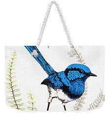 Weekender Tote Bag featuring the photograph Blue Bird 001 by Kevin Chippindall
