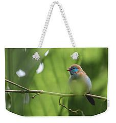Blue Bird Chirping Weekender Tote Bag