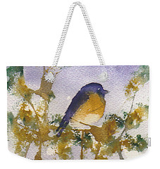 Blue Bird In Waiting Weekender Tote Bag
