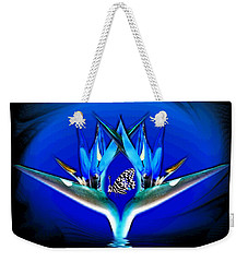 Weekender Tote Bag featuring the photograph Blue Bird Of Paradise by Joyce Dickens