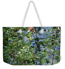 Blue Bird On Silk Weekender Tote Bag by Gary Smith