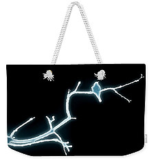 Weekender Tote Bag featuring the photograph Blue Bird Singing by Donna Bentley