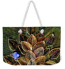Blue Bird Singing In An Autumn Tree Weekender Tote Bag by Donna Blackhall