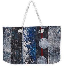 Blue Black Collage Weekender Tote Bag