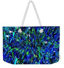 Blue Blades Of Grass Weekender Tote Bag