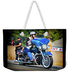 Blue Bling Rider Weekender Tote Bag