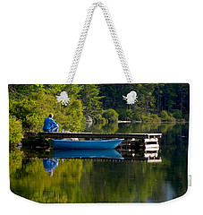Blue Boat Weekender Tote Bag by Brent L Ander