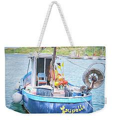 Blue Boat Weekender Tote Bag