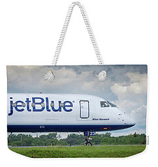 Weekender Tote Bag featuring the photograph Blue Bonnet by Guy Whiteley