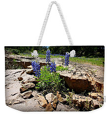 Blue Bonnets On The Rocks Weekender Tote Bag