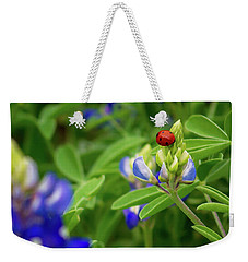 Texas Blue Bonnet And Ladybug Weekender Tote Bag