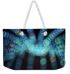 Weekender Tote Bag featuring the photograph Blue Boogie by Laurie Stewart