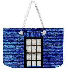 Weekender Tote Bag featuring the digital art Blue Brick by Robert Geary