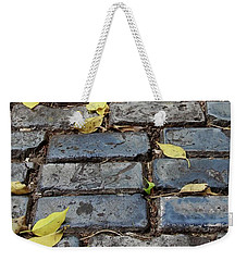 Blue Bricks With Yellow 2 Weekender Tote Bag