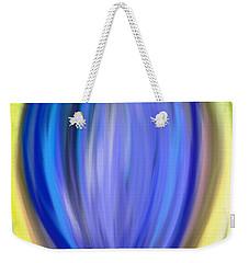 Weekender Tote Bag featuring the digital art Blue Bud by Melinda Ledsome