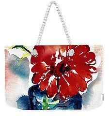 Blue Bud Vase Weekender Tote Bag