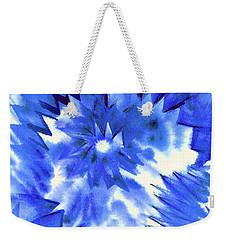 Blue Burst Weekender Tote Bag by Joan Hartenstein