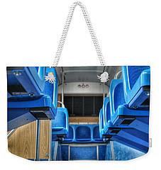 Blue Bus Seats Weekender Tote Bag