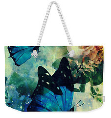 Blue Butterfies Weekender Tote Bag