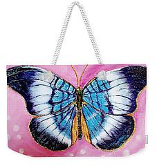 Blue Butterfly Weekender Tote Bag by Hye Ja Billie