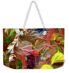 Blue Butterfly Jungle Weekender Tote Bag