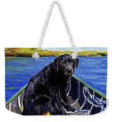 Blue Canoe Weekender Tote Bag by Molly Poole