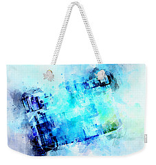 Blue Canvas Weekender Tote Bag