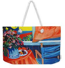 Blue Canvas Chair Weekender Tote Bag