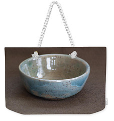 Blue Ceramic Drippy Bowl Weekender Tote Bag by Suzanne Gaff