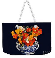 Blue Ceramic Vase Weekender Tote Bag
