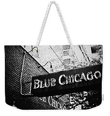 Blue Chicago Nightclub Weekender Tote Bag