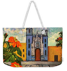 Blue Church   Iglesia Azul Weekender Tote Bag