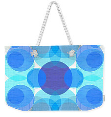 Blue Circles Weekender Tote Bag by Michelle Calkins
