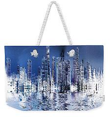Blue City Weekender Tote Bag by Stuart Turnbull