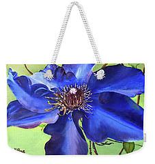 Blue Clematis Weekender Tote Bag