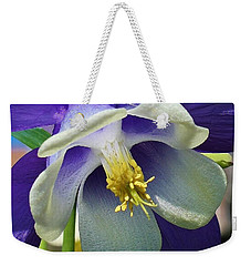 Blue Columbine Up Close 1 Weekender Tote Bag by Bruce Bley
