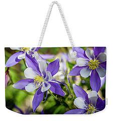Blue Columbine Wildflowers Weekender Tote Bag