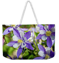 Blue Columbine Wildflowers Weekender Tote Bag by Teri Virbickis