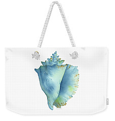 Blue Conch Shell Weekender Tote Bag