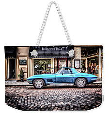 Blue Corvette Weekender Tote Bag by Wade Brooks