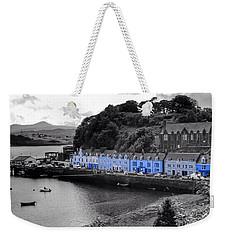 Blue Cottages At Portree Harbour 5 Weekender Tote Bag
