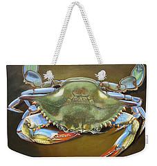 Blue Crab Weekender Tote Bag by Phyllis Beiser