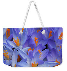 Blue Crocuses Weekender Tote Bag