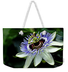 Blue Crown Passion Flower Weekender Tote Bag
