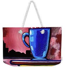 Blue Cup Weekender Tote Bag