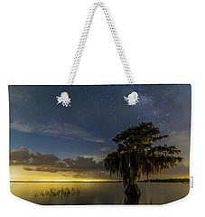 Blue Cypress Lake Nightsky Weekender Tote Bag