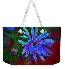 Weekender Tote Bag featuring the photograph Blue Daisy by Lori Seaman