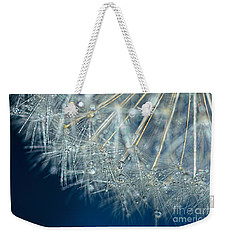 Blue Dandelion Dew By Kaye Menner Weekender Tote Bag
