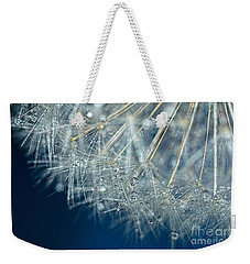 Blue Dandelion Dew By Kaye Menner Weekender Tote Bag by Kaye Menner